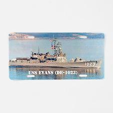 evans postcard Aluminum License Plate