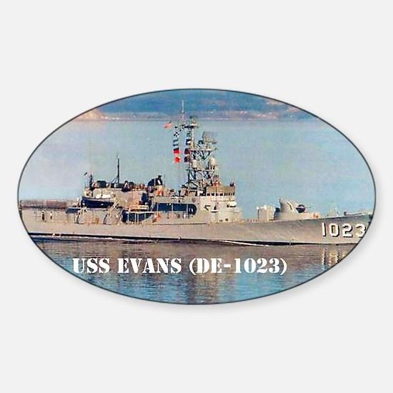 evans postcard Sticker (Oval)