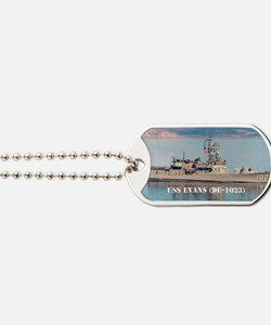 evans sticker Dog Tags