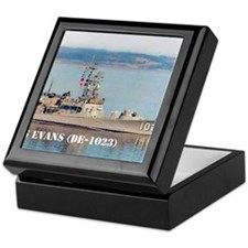 evans small poster Keepsake Box