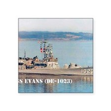 """evans small poster Square Sticker 3"""" x 3"""""""