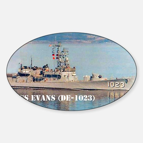 evans note cards Sticker (Oval)