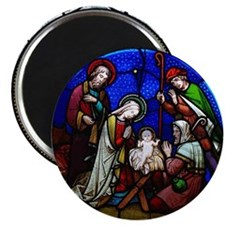 Stained Glass Nativity Magnet
