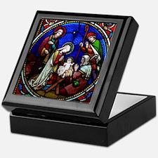 Stained Glass Nativity Keepsake Box
