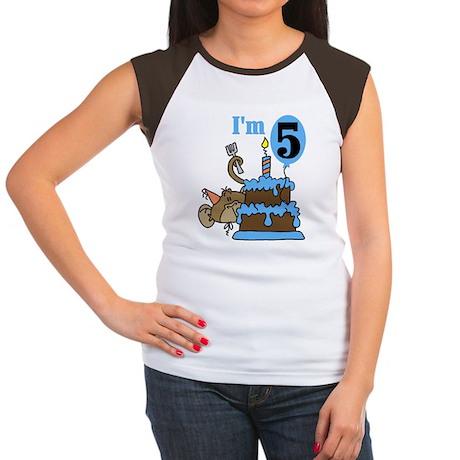 BLUEMONKEY5thBDAY Women's Cap Sleeve T-Shirt
