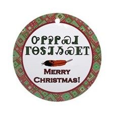 Cherokee Holiday Greetings Ornament (Round)