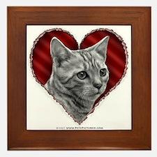 Bengal Cat Heart Framed Tile