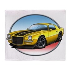 Yellow_72_Camaro Throw Blanket