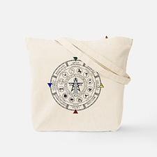 Wheel of the Year Zodiac Sabats Tote Bag