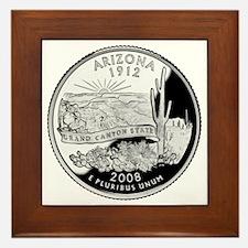 state-quarter-arizona Framed Tile