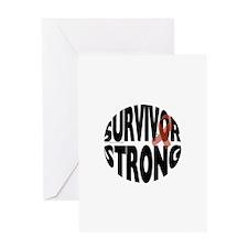 Survivor Strong Button Greeting Cards