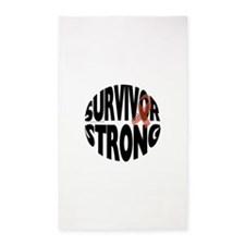 Survivor Strong Button 3'x5' Area Rug