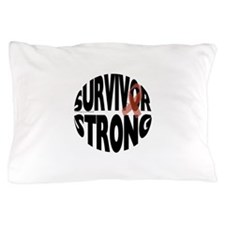 Survivor Strong Button Pillow Case