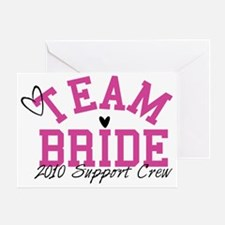 team-bride-support-crew Greeting Card