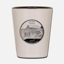 state-quarter-iowa Shot Glass