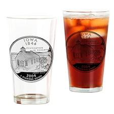 state-quarter-iowa Drinking Glass