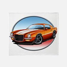 Orange_72_Camaro Throw Blanket