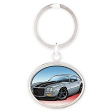 Silver_72_Camaro Oval Keychain