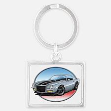 Silver_72_Camaro Landscape Keychain