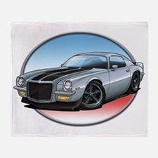 Silver_72_Camaro Throw Blanket