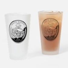 coin-quarter-south-dakota Drinking Glass