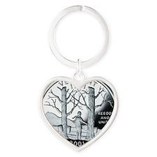 coin-quarter-vermont Heart Keychain