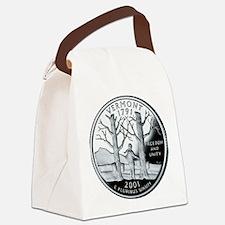 coin-quarter-vermont Canvas Lunch Bag