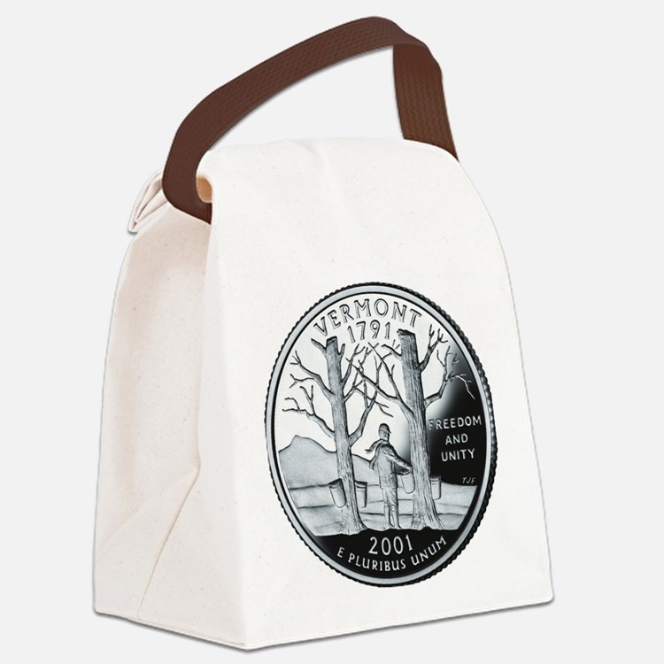 coin-quarter-vermont Canvas Lunch Bag