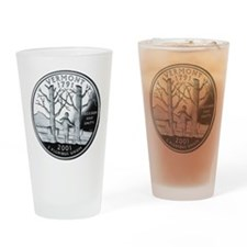 coin-quarter-vermont Drinking Glass
