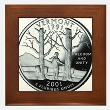 coin-quarter-vermont Framed Tile