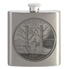 coin-quarter-vermont Flask