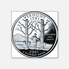 "coin-quarter-vermont Square Sticker 3"" x 3"""