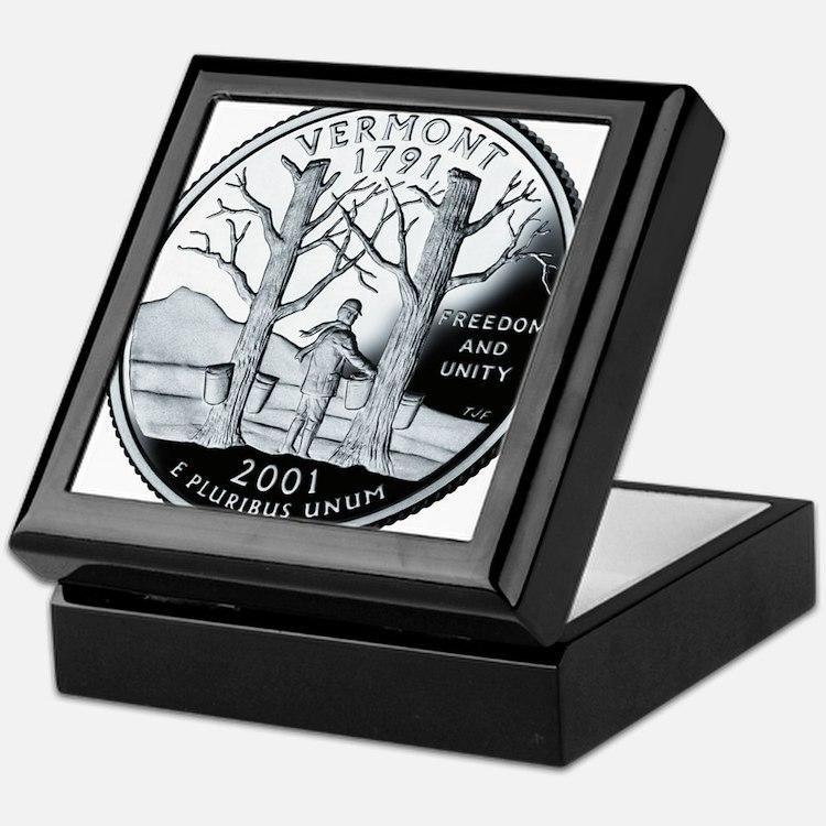 coin-quarter-vermont Keepsake Box
