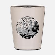 coin-quarter-vermont Shot Glass