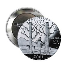 """coin-quarter-vermont 2.25"""" Button"""