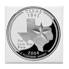 coin-quarter-texas Tile Coaster