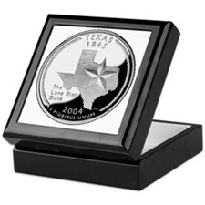 coin-quarter-texas Keepsake Box