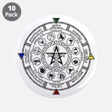 "Wheel of the Year Zodiac Sabats 3.5"" Button (10 pa"