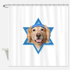 Hanukkah Star of David - Golden Shower Curtain