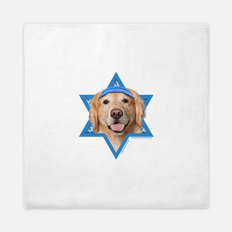 Hanukkah Star of David - Golden Queen Duvet