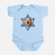 Hanukkah Star of David - Golden Infant Bodysuit