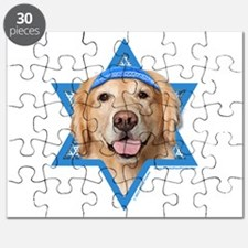 Hanukkah Star of David - Golden Puzzle