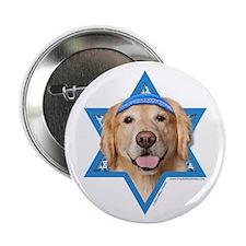 "Hanukkah Star of David - Golden 2.25"" Button (10 p"