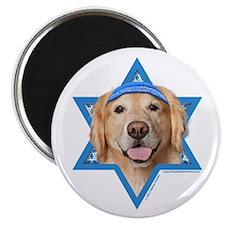 "Hanukkah Star of David - Golden 2.25"" Magnet (10 p"