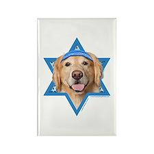Hanukkah Star of David - Golden Rectangle Magnet (