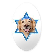 Hanukkah Star of David - Golden Decal