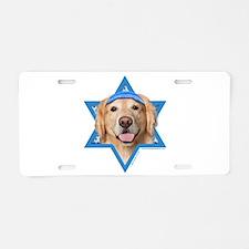 Hanukkah Star of David - Golden Aluminum License P