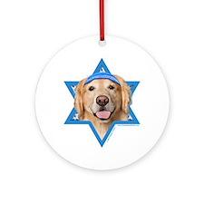 Hanukkah Star of David - Golden Ornament (Round)