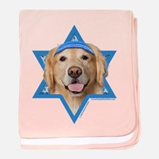 Hanukkah Star of David - Golden baby blanket