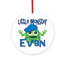 2-evan-b-monster Round Ornament